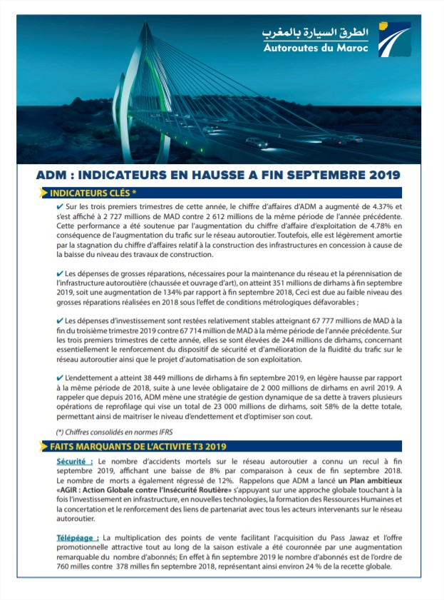 Indicateurs Trimestriels T3 2019